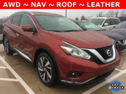 Pre-Owned 2015 Nissan Murano Platinum AWD With Navigation