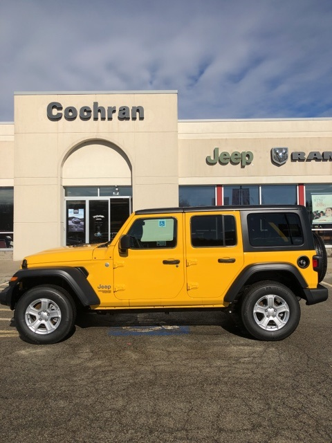 Jeep Wrangler Unlimited Sport >> New 2019 Jeep Wrangler Unlimited Sport S 4d Sport Utility In Natrona